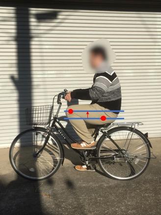 自転車のサドルが低いと太もも・膝に負担がかかる
