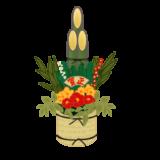 あけましておめでとうございます。正月飾りの門松