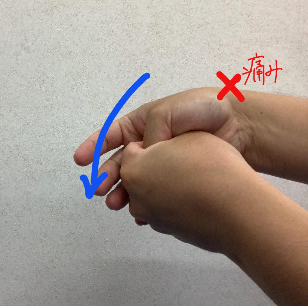 腱鞘炎を調べるフィンケルシュタインテスト