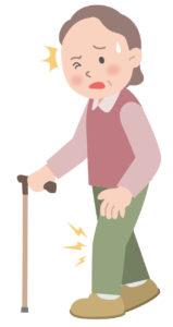 変形性膝関節症に伴う歩行時の膝関節痛