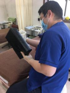枕利用時、タオルを乗せていますが、使用後は必ず消毒しております