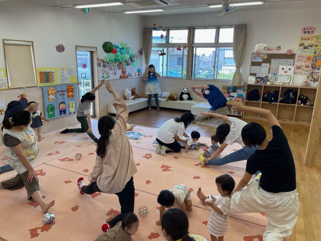 熊谷市柿沼にある子育て支援センターパーシモンにて2021年7月21日に子育てママの身体のお悩み相談・ストレッチ体験を実施しました。